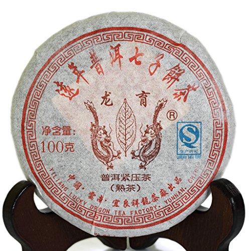 100g (3.5 Oz) 2006 Year Yunnan Aged Lucky Dragon puer pu'er Puerh Tea Ripe Small Cake Tee