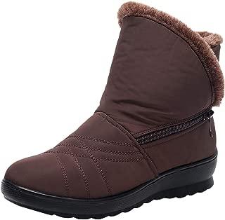 Women's Ladies Winter Warm Boots Zipper Wear Resistant Waterproof Short Snow Boots Footwear Casual Shoes