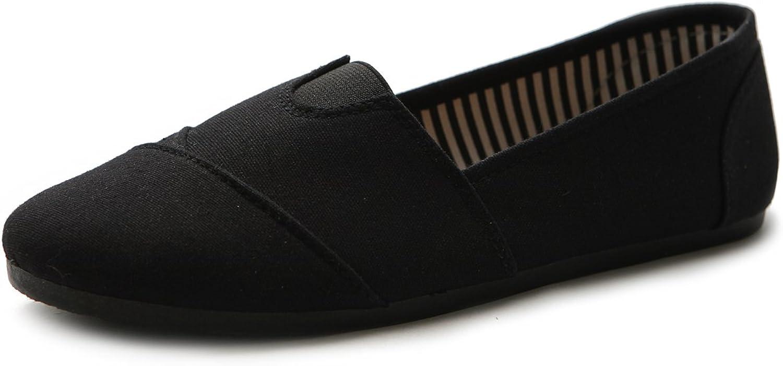 Ollio Women's shoes Slip on Sneaker Canvas Flat
