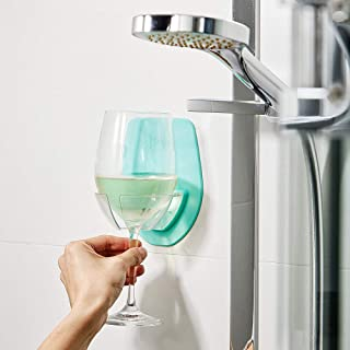 2019 Best Gifts!!! Hennta Watt Plastic Wine Glass Holder for The Bath Shower Red Wine Glass Holder(6.4 x 4.1 x 0.2 inches)
