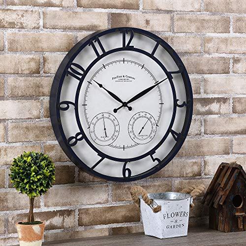 FirsTime & Co. Navy Laguna Outdoor Clock