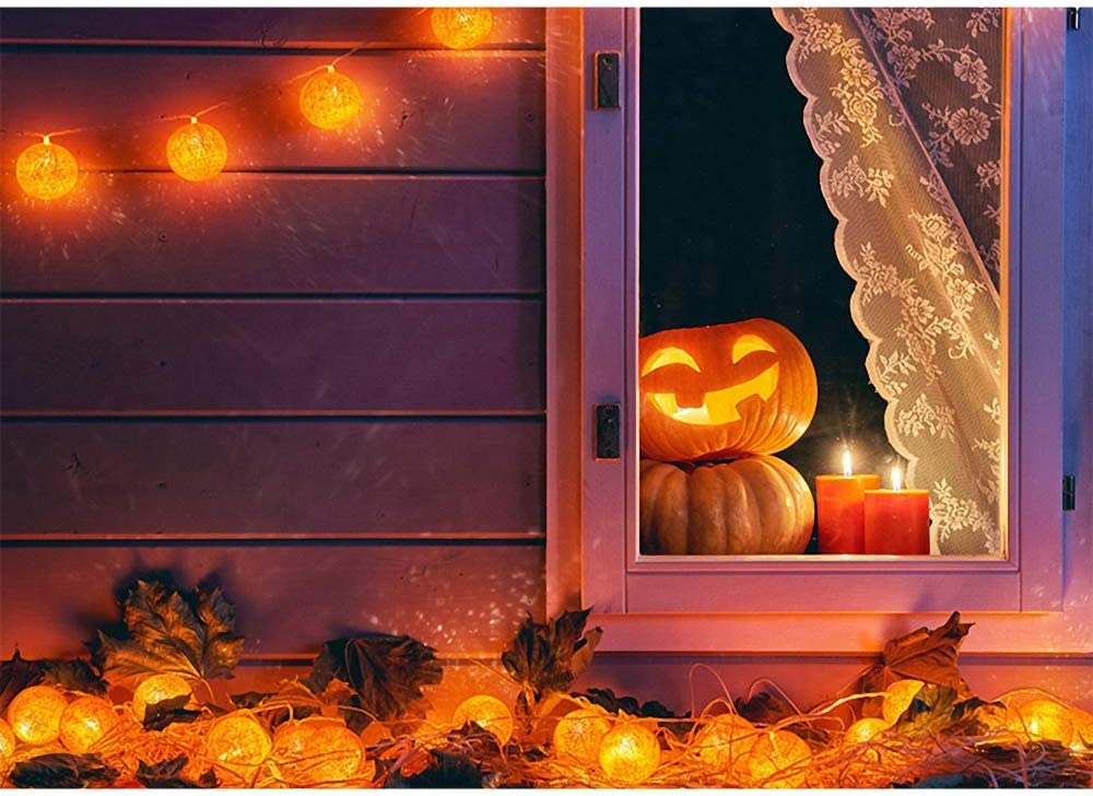 Photography Background Halloween Backdrop Pumpkin Witch Hat Moon Bat Baby Birthday Photography Background for Photo Studio Photophone Photo Background Wall Decorations Large Banner Birthday Back