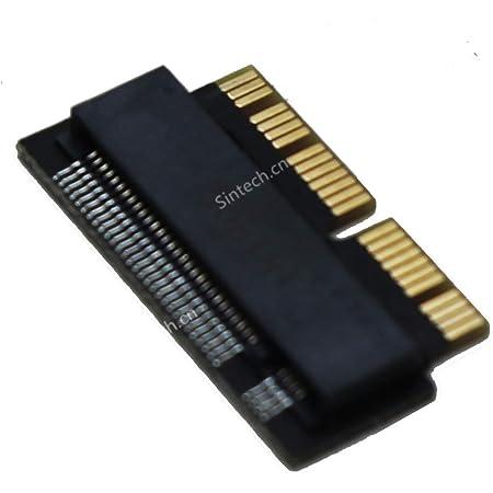Sintech NGFF M.2 nVME SSDアダプターカード MacBook Air(2013-2016年)およびMacBook PRO(2013-2015年後期)用 (ブラック) (2013a(アダプターのみ))
