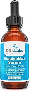 NiacinaMax Serum with 10% Niacinamide (Vitamin B3), Tea Tree Oil, Calendula Extract, Allantoin and VIT. B5 ...