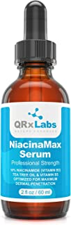 NiacinaMax Serum with 10% Niacinamide (Vitamin B3), Tea Tree Oil, Calendula Extract, Allantoin and Vit. B5 & E – Enhanced Dermal Penetration – Shrinks Pores & Reduces Blemishes on Skin – 2 oz / 60 ml