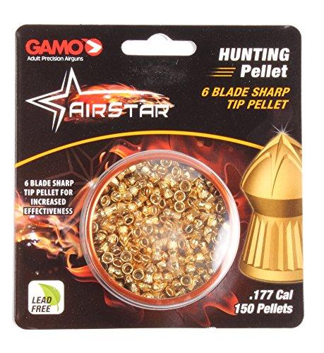 Gamo Airstar 632272454 6 Blade Sharp Tip Air Gun Pellets 0.