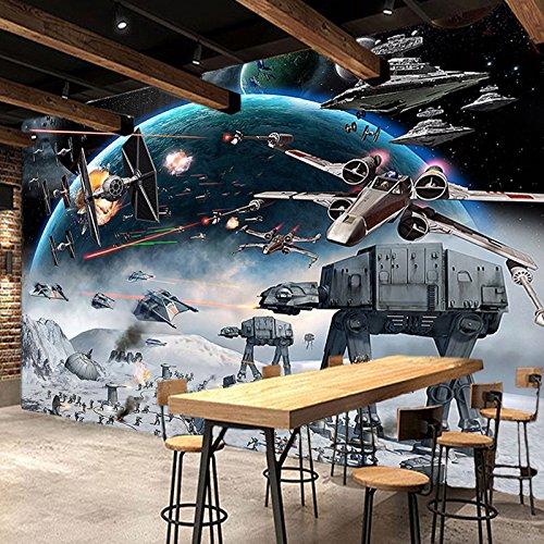 Leegt 3D Tapete Wallpaper Mural Custom 3D Fototapete Cartoon Star Wars Kinderzimmer Schlafzimmer Wohnzimmer Wandmalerei Wandbild Tapeten Für Kinder Zimmer 200cmX150cm