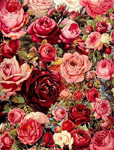 Fondos fotográficos de Retrato de bebé recién Nacido con pétalos de Flores de Primavera Rosadas para Estudio fotográfico A4 9x6ft / 2,7x1,8 m