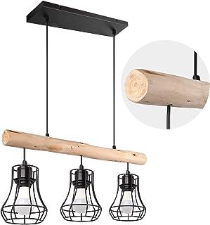 Vintage Créatif suspension Lampe cage Eclairage Lampe , suspension Luminaire Grenier café salon ,E27*3 Suspension Rétro en...