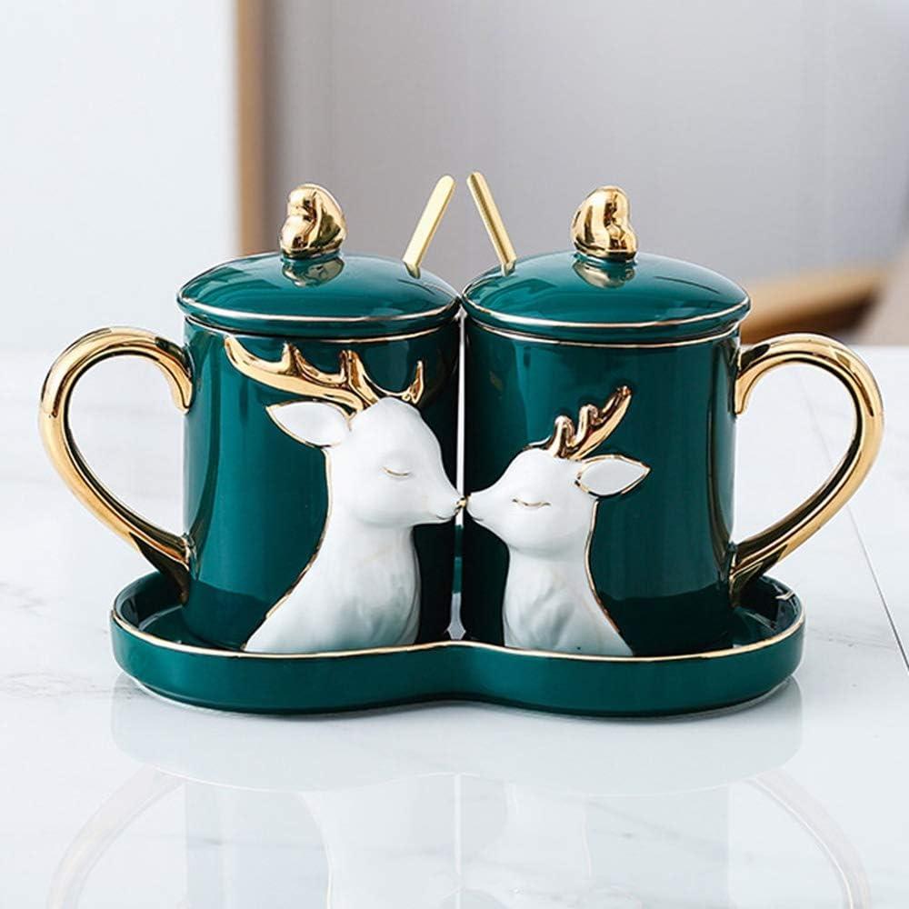 Nologo, coppia di tazze con coperchio e cucchiaino , in ceramica Type#a