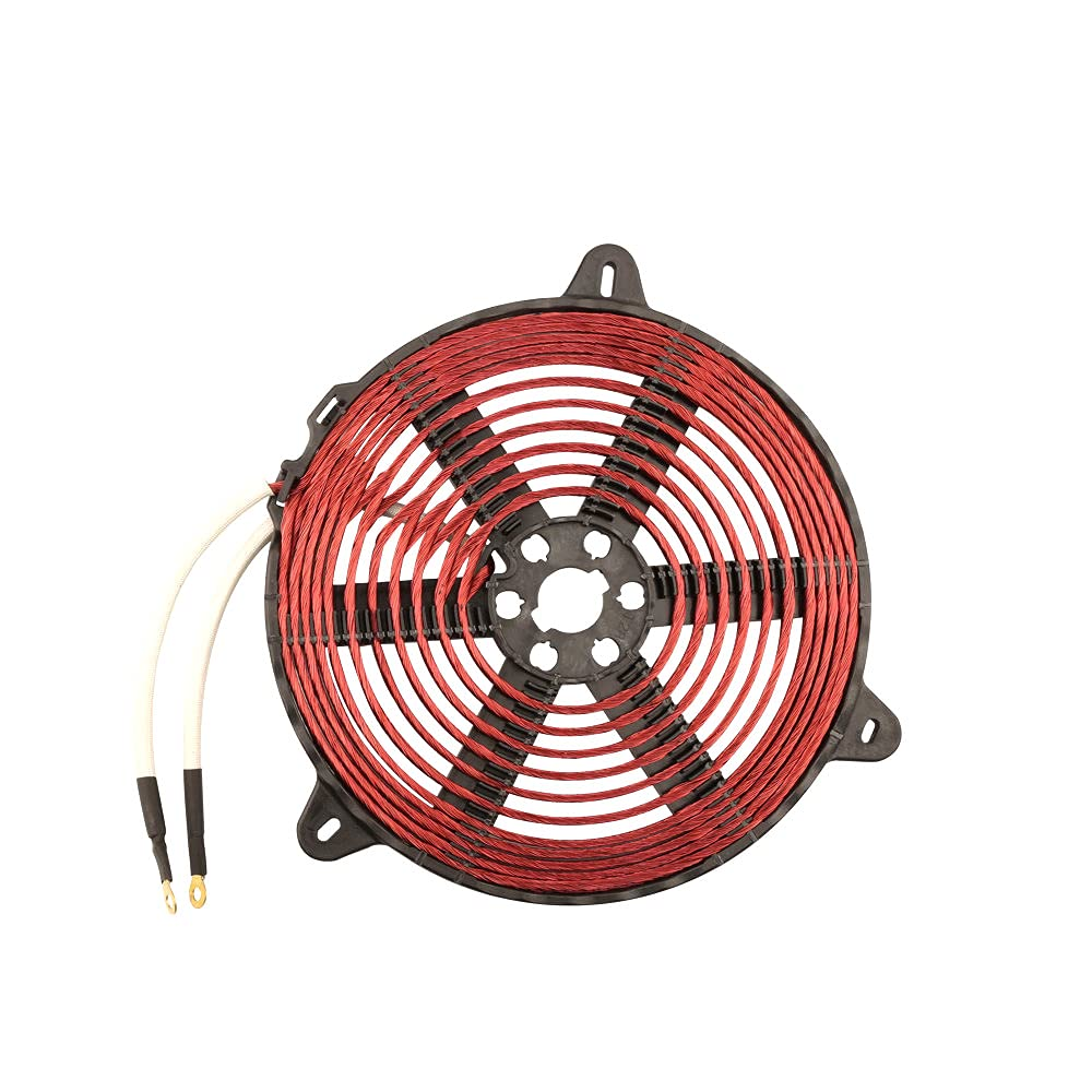 T28 2200W 188mm Heat Coil Enamelled Copper Wire Induction Heating Coil Panel Induction Cooker Accessory