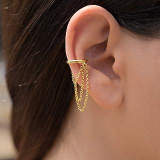 Manguito de oreja de oro sin perforaciones, cadena de aretes de regalo, escalador de orejas, arete de oreja, oreja de oreja de oreja
