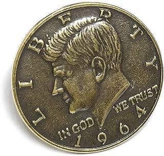 タックピン コイン 硬貨 ブローチ メンズ レディース