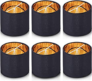 Wellmet Chandelier Shades,ONLY for Candle Bulbs,Clip-on Drum Lamp Shades,Set of 6, 5.5