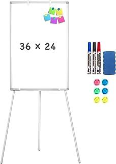 Easel Whiteboard – Magnetic Portable Dry Erase Easel Board 36 x 24 Tripod..