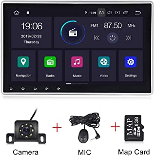 Android 9.0 OS 10.1 Inch Single Din Adjustable Screen Car Stereo IPS DSP 2G RAM Car Radio for Car Touch Screen PX30 Car Multimedia Navigation Support Bluetooth WiFi