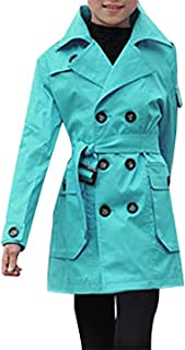 JiaYou Kid Child Girls' Double Breasted Outwear Jacket Trench Coat with Belt