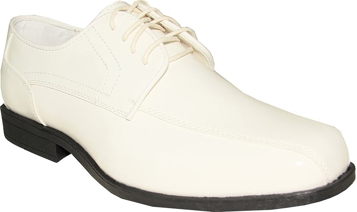 Jean Yves JY02 Tuxedo Dress shoes Double Runner for Wedding, Prom and Formal Event Ivory Patent