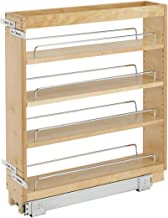 Rev-A-Shelf 448-BC-5C 5-Inch Pull Out Wood Base Kitchen Cabinet Organizer with 3..