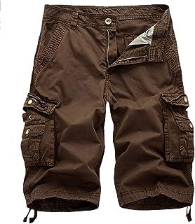 Hombre Verano Bermudas Cargo Shorts Leisure Bolsillo Múltiple Pantalones Cortos
