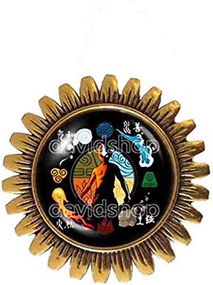 Elements Fire Water Tribe Earth Kingdom Air Nomads Art Symbol Avatar The Last Airbender Brooch Badge Pin Legend of Korra Cosplay Charm
