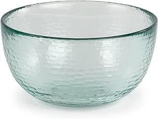 Spanish 100% Recycled Glass Medium Incised Salsa Bowl, Set of 2 - 5.25