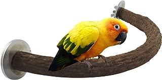 RYPET Parrot Bird Natural Wood Stand Perch Swing, U Shape