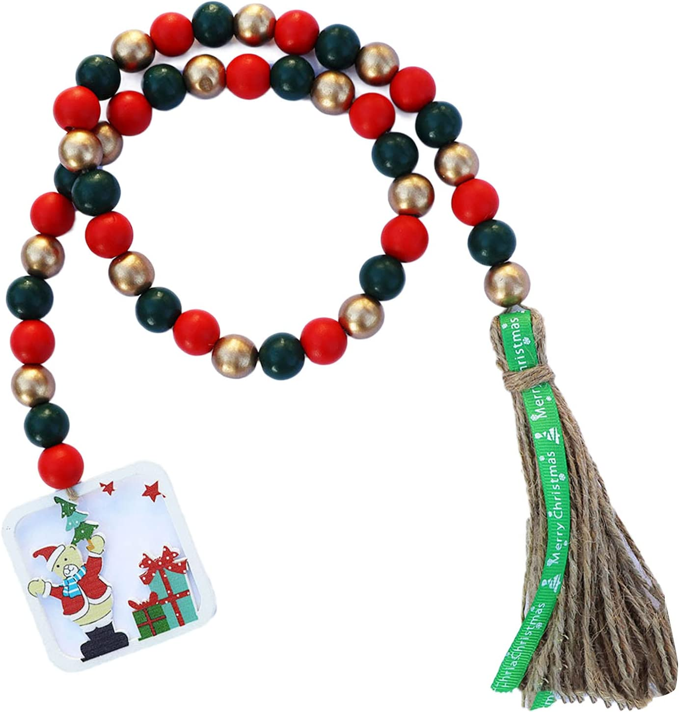 Eurobuy Christmas Wooden Bead Tree Max 40% OFF Tassels Max 63% OFF Wreath with