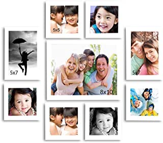Art Street Set of 9 Individual Photo Frame/Wall Hangings for Home Décor - White