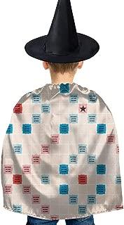 Scrabble Halloween Costumes Set Props Dress Cloak with Hat for Kids Girl