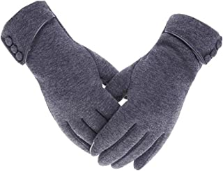 Valleycomfy Women Winter Gloves Windproof Warm Cycling Driving Sport Touch Screen Gloves
