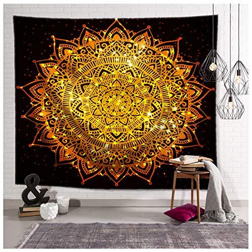 KnSam - Tapiz decorativo para pared (95 x 73 cm), diseño de mandala