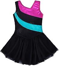 CHICTRY Vestito Danza Classica Costumi da Ballo con Paillettes Tutu da Balletto Bambina Abito Pattinaggio Artistico Body Ginnastica Dematore Circo Showman Cosplay Carnevale
