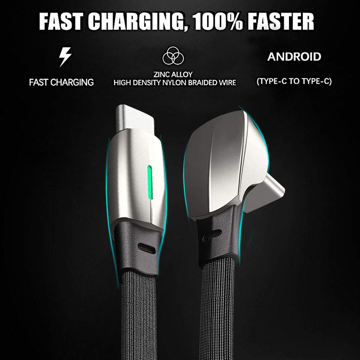 PACEWALKER for Tesla Model3//Model Y Quick Charging Data Line 2020 Latest Upgrade Fashion Model Type-C to Type-C