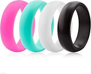 ThunderFit Silicone Rings Wedding Bands for Women