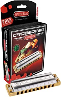 Marine Band Crossover Harmonica in Chrome - Key of Bb