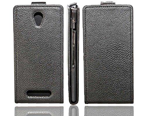 caseroxx Flip Cover für Archos 50 C Oxygen, Tasche (Flip Cover in schwarz)