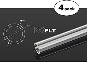 Bitspower None Chamfer PETG Link Tube, 14mm OD, 1000mm, Clear, 4-Pack
