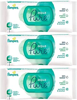 Pampers Water wipes Sensitiven 3x48s