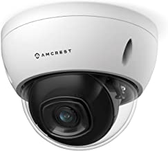 Amcrest 5MP POE Camera, Outdoor Vandal Dome Security POE IP Camera, 5-Megapixel, 98ft NightVision, 2.8mm Lens, IP67, IK10 ...