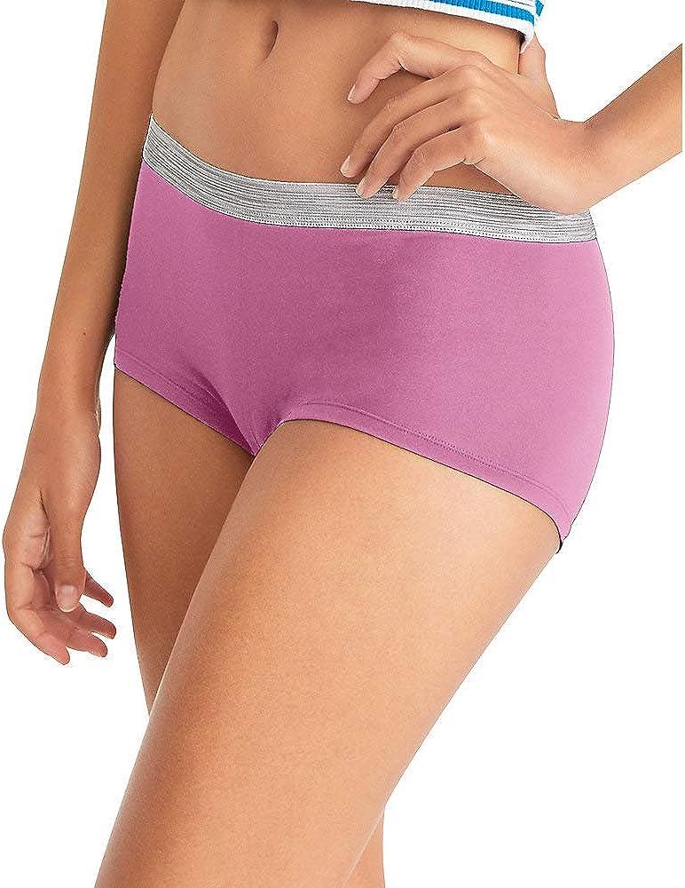 Hanes Women's Cool Comfort Sporty Microfiber Boyshort Underwear, 6 Pack at  Women's Clothing store