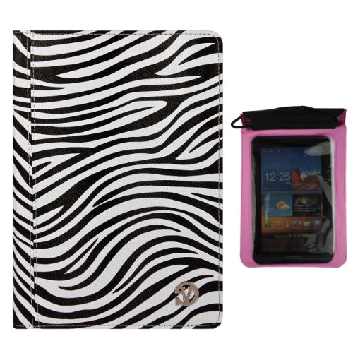 Deluxe Executive Portfolio for Acer Iconia B B1 720, B1 A71, B1 710, B1 7 inch Tablet and Pink Waterproof Sleeve