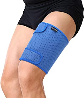 Sponsored Ad - Thigh Support, Thigh Brace with Silicone Anti-Slip Strips, Hamstring Wrap Compression Sleeve,pressure fixat...