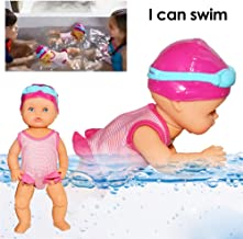 Enjoyyouselves Art Cute Dolls, Non-Silicone Inedible Mini Decorations Play New Forces Swimming Doll I Can Swim for Home Decorations Holiday Birthday Gifts Everybody