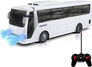 HAK125 لعبة سيارة نموذج حافلة الركاب تعمل بالتحكم عن بعد 4-Ch R / C عالية السرعة اضواء حافلة واقعية واطارات مطاطية امنة وم...