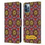 Head Case Designs Licenza Ufficiale Frida Kahlo Mandala Floreale Rosso Cover in Pelle a Portafoglio Compatibile con Apple iPhone 12 / iPhone 12 PRO