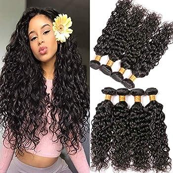 12a Brazilian Water Wave Hair Bundles Short Human Hair Extensions Water Wave 10 12 14 16 Inch Virgin Brazilian Hair Weaves 95-100g/pcs Natural Color