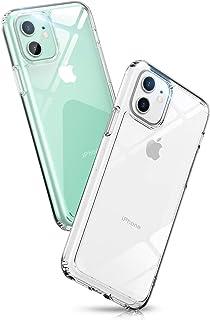 iPhone 11 ケース クリア 6.1インチ Aunote スマホケース 背面ガラス TPUバンパー 薄型 軽量 耐衝撃 レンズ保護 四隅滑り止め ストラップホール付き ワイヤレス充電対応 アイフォン 11 ケース