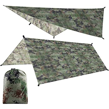 abri Anti-Pluie RainTent l/éger et l/éger for Portable avec Sac de Rangement Aeloa Tente Tarp Camouflage