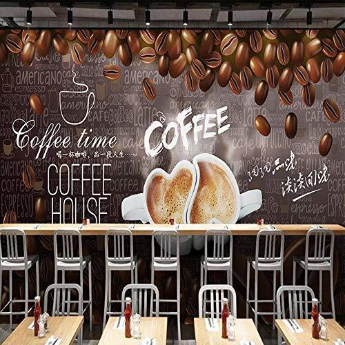 YIERLIFE 3D Wandbilder Selbstklebend Kinderzimmer - Vintage handgezeichnete Kaffeebohnen - Fototapete 3D Effekt Wandbild Tapete Deko Wohnzimmer Tapeten Deko Schlafzimmer Wandbilder Wanddeko